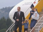 Duke and Duchess along with Prince George and Princess Charlotte land in Canada.