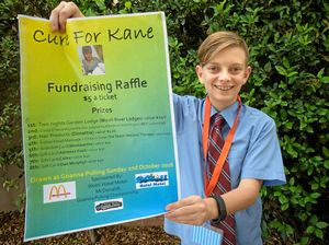 Bennett Mitchelhill who is holding a fundraiser for his friend Kane.