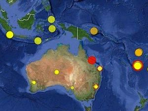 Map of earthquakes across australia including the one off BowenPhoto: Contributed