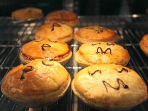 Meat pies at Pie Face.   Photo: Chris Ison / The Morning Bulletin