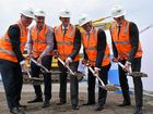 The first sod has been turned on the $400 million Sunshine Plaza redevelopment.