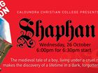"""Join us as our Primary students captivate us with a musical production of the story of """"Shaphan"""". $25 ticket includes 2 course meal + show ticket."""