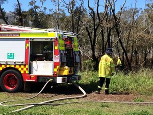 PHOTOS: Firies battle North Coast bushfire