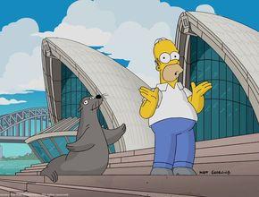 Homer Simpson thanks Australia during Opera House visit