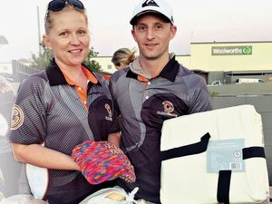 HELPING OUT: Renee and Joel Chapman from CentroCentre offer essentials .
