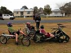 RACE PREP: Some billy cart drivers were caught 'speeding' ahead of Wallangarra's Billy Carts On the Border.