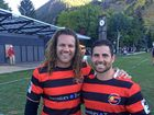 BILL'S PROUD MOMENT: Wollongbar-Alstonville rugby union player Bill Johnston (right) pictured with USA Eagles player Todd Cleaver in Aspen.