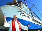 MAROOCHY the cruise boat was rebirthed, renamed, blessed and plunged back into the water yesterday.