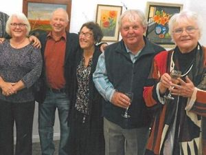 FINE ARTS: Members of the Lockyer Valley Art Group at the Individual Art Strokes art exhibition.