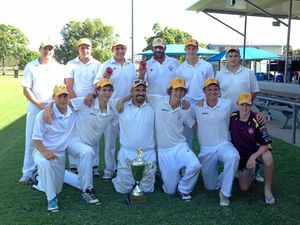WINNERS: A-Grade premiers Gatton Fordsdale with the trophy after last season's triumph.