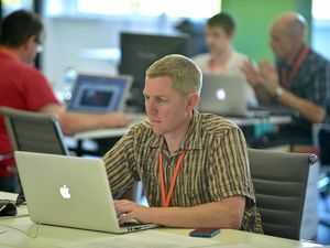 Hackfest with $20,000 in cash and prizes in Maroochydore. Contestants hard at work. Photo: Che Chapman / Sunshine Coast Daily