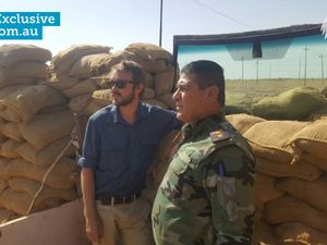 Former Longman MP Wyatt Roy with a Peshmerga soldier in Iraq.