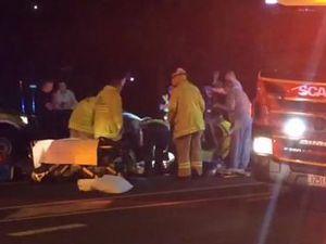 Man hit by a car in Walker St