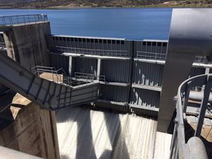 SAFETY TEST: SunWater conducted a controlled release from Callide Dam on Wednesday.