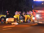 A man has been hit by a car on Walker St.
