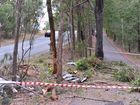 The scene of the crash on Queen St, Little Mountain, in which a 21-year-old man died.