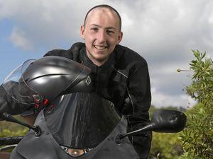 100 motorbike riders take Braden on final journey