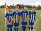 TOUGH COMPETITIONS: Nathan Webb, Hunter Clark, Luke Muir and Zac Donnelly travelled to play in the U12 South West Queensland.