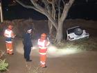 Adelaide sinkhole opens up under car.