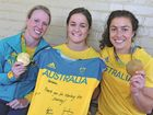 WINNING TEAM: Toowoomba's Gemma Etheridge, Dominique Du Toit and Emilee Cherry back from the Olympics.