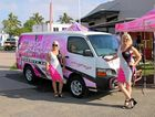 NEW WHEELS: Founder of Pink Ribbon Charity Fair Raelene Wells and Kelly O'Connor take a spin the charity's new vehicle.