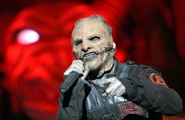 Singer Corey Taylor of the US heavy metal band 'Slipknot' on stage during a concert at the Nova Rock 2015 festival in Nickelsdorf, Austria, 14 June 2015.