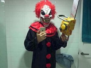 My boy sleeps with knife after 'machete clown' chased him