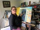 Artist Maaret Sinkko working on a piece for one of her upcoming exhibitions.