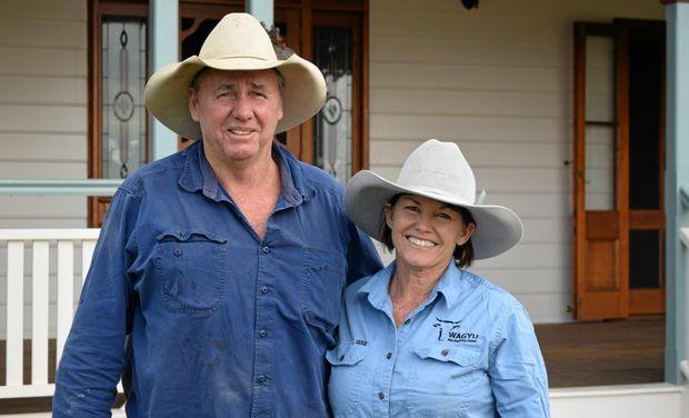 CASH COWS: Brookston Premium Wagyu Beef's Mal and Sue Burtson supplied 500 wagyu cows to Gina Rinehart.