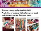 Shop up a storm and grab a BARGAIN!!    A selection of amazing stalls offering pre-loved clothing, accessories, shoes and more!