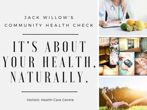 Join our team of Natural Health Care Providers for a FREE Community Health Check - November 24th 8-11am.