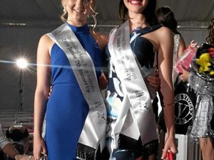 FASHIONABLE: Taleisha Purdy and Madisyn Ninness are in the Miss Teen Australia finals.