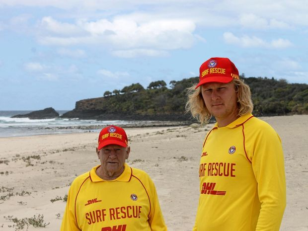 Fingal Rovers SLSC vice-president Mick Armstrong (left) and president Steven Kudzius have issued a call for more volunteers to join them in helping to keep our beaches safe.