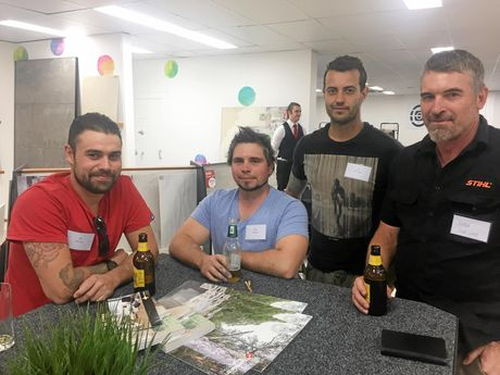 Jake, Gesh, and Liam from MVP Tiling and Darren from Ves Flooring