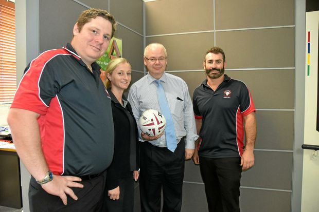 GAME ON: Rob Weaver, Patty Delandre, Lewis von Stieglitz and Scott Morton say the sponsorship deal spells exciting times for local rugby league.