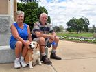 WALKIES: John and Corrie Woolley and pet dot Brutus, are calling Warwick home for a few months.