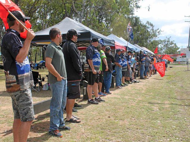 German Creek miners are striking over Enterprise Bargaining Agreement negotiations.