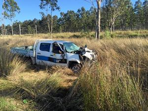 Ute driver 'fell asleep' in Gladstone truck crash