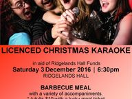 Come along to an old-fashioned Christmas event at the Ridgelands Hall - it's lots of fun and a great night out!