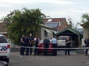 Man shot at caravan park: two men at large