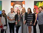 TEACHERS GATHER: Candice Delofski, Karen Roselt, Jenny MacNamara, Alison Roberts, Sonia Miers, Emma Kaiteie and Jordan Hart at the DSHS exhibition opening.