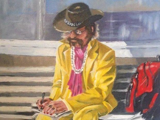 "LOCAL LEGEND Shanti in Bangalow painted by Wayne 'Brownie"" Brown."