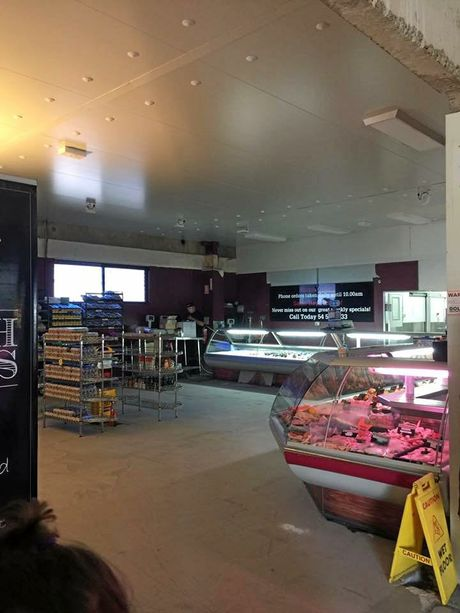 PROGRESS: The renovations are well underway. New refrigeration still to come will also feature in the new store.