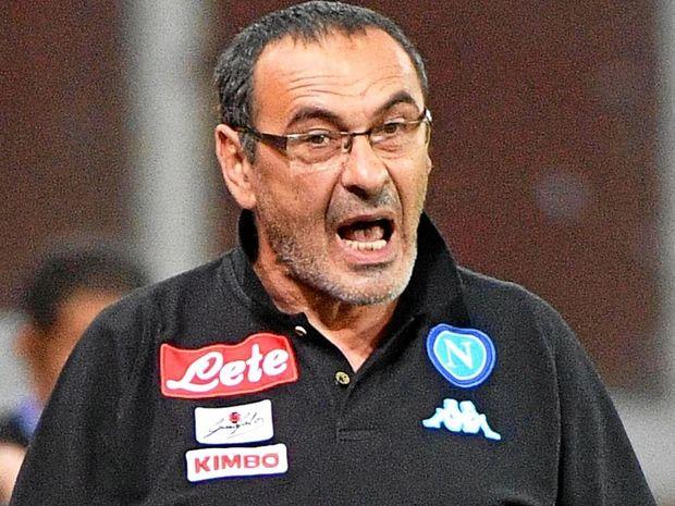 Napoli head coach Maurizio Sarri.