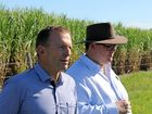 Member for Dawson George Christensen, with former Prime Minister Tony Abbott earlier this year, pities Americans because they have two bad choices at the coming American election.