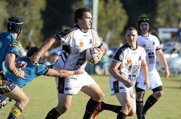 BACK IN BLACK AND WHITE: Rampaging prop forward Ryan Binge is ready to return to his home club the Lower Clarence Magpies for the 2017 NRRRL season as the club rebuilds their first grade roster.