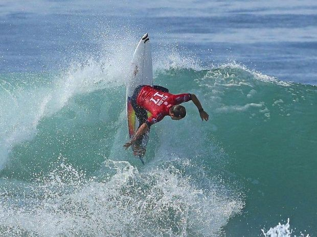 ON THE EDGE: Julian Wilson at the previous event in France.