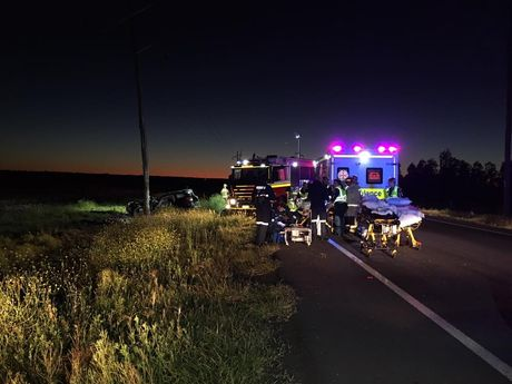 The scene of the crash. Photo Win News Toowoomba