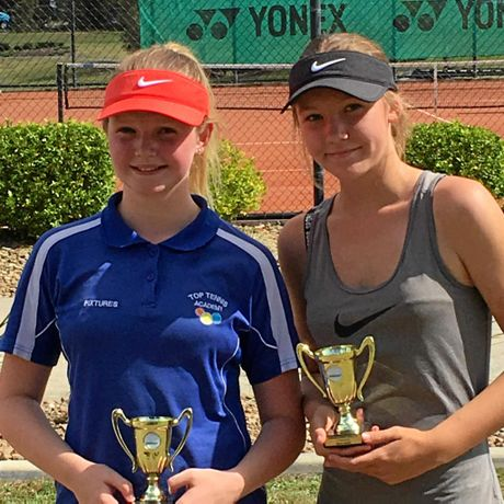 Luca O'Connor and Claire Gould (see photo attached) Winner of the girls 13 & under doubles final.?