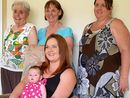 """A TOOWOOMBA great-great grandmother is absolutely thrilled that the women of her family were able to pose for a second """"five generations"""" photograph recently."""